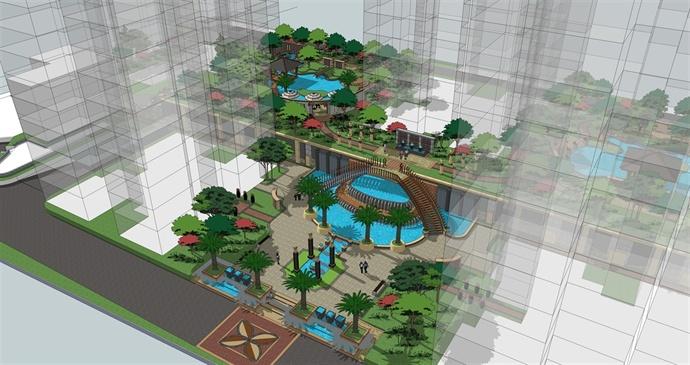 云南(保山)力宏·现代都会景观设计方案