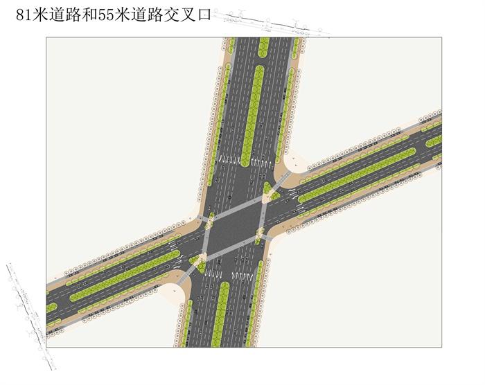 几个道路交叉口平面(jpg,psd)[原创]