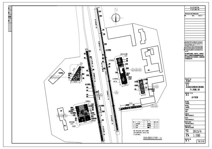 某高速公路服务区景观提升v景观CAD施工图[原绿植墙cad立面图图片