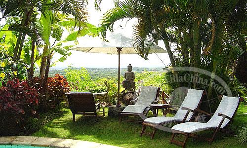 别墅,小庭院景观设计实景图-庭院躺椅庭院景观-设计