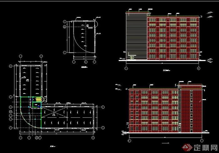 某8层框架办公楼毕业设计(含建筑结构图及计算书)[原创]