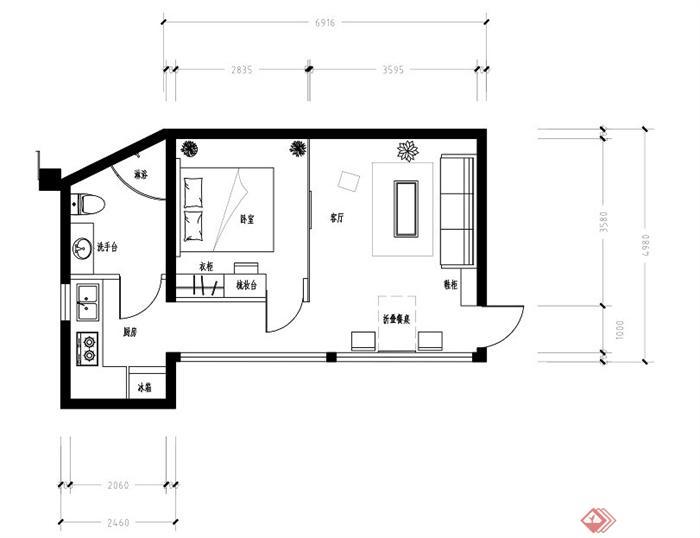 某住宅室内设计平面图tif格式