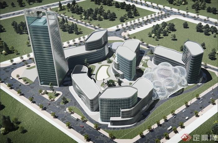 现代某酒店v酒店高层建筑设计PSD效果图[原创南昌大学有园林设计吗图片
