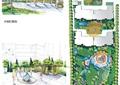 住宅景观规划,水体,园路,花架,喷泉,景墙,乔灌木