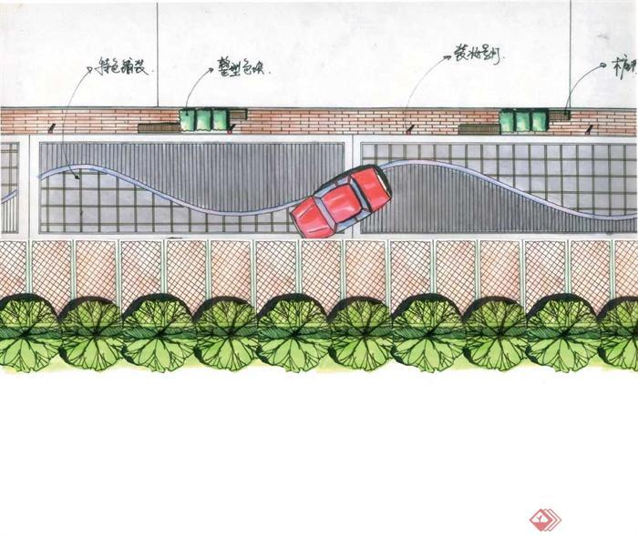 景观节点手绘图-地面铺装植物平面-设计师图库