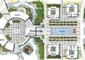 校园广场,广场景观,地面铺装,校园景观