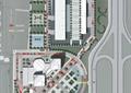 办公环境,交通分析,行道树,游泳池,运动场,建筑
