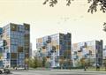 住宅建筑,集装箱式建筑,道路,植被