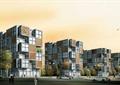 住宅建筑,集装箱式建筑,观叶乔木,道路,汽车