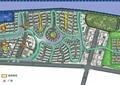 住宅景觀規劃,住宅綠化分析圖,道路,水景,植被