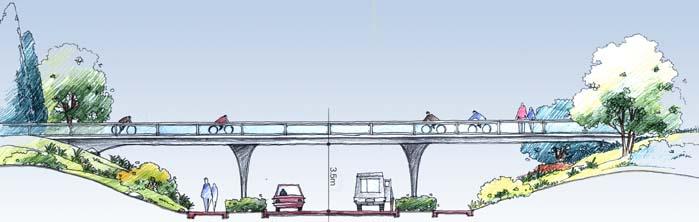 道路景观,桥梁,道路剖面
