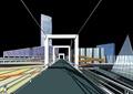 桥梁,商业中心,商业建筑