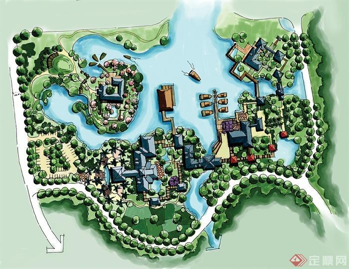 滨水商业区设计-小区规划别墅区设计住宅景观-设计师