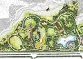 城市规划,河流景观,道路,住宅建筑,植被