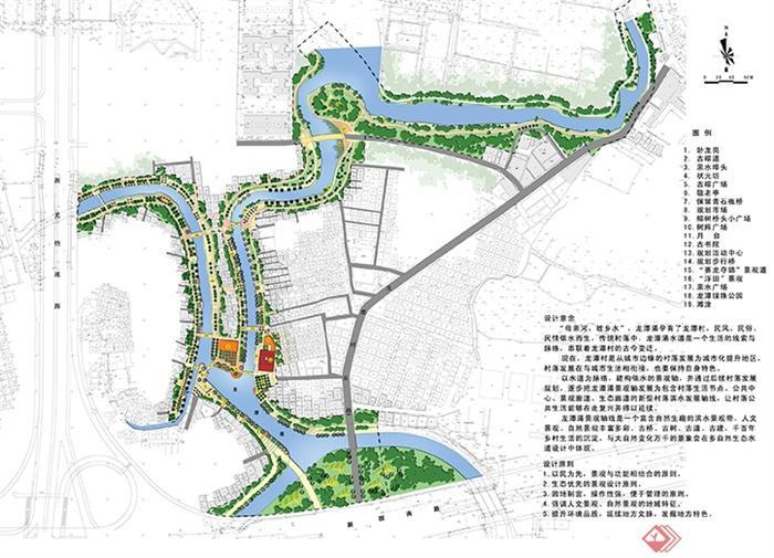 城市景观规划设计图-河流景观植被道路-设计师图库