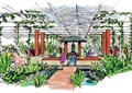 廊架,入口门,园路,植被,生态农庄