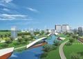 厂区环境,厂区规划,河道景观,草坪景观