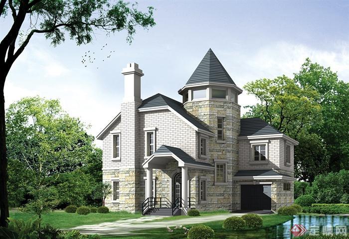 別墅,三層別墅,獨棟別墅,別墅建筑,別墅景觀
