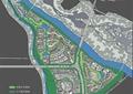 城市规划,住宅景观,河流景观