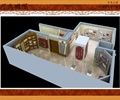 荣誉室,装饰柱,展示柜,形象墙