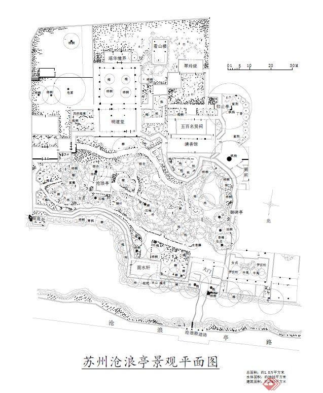 苏州园林沧浪亭景观设计平面图