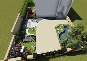 别墅庭院景观lumion模型