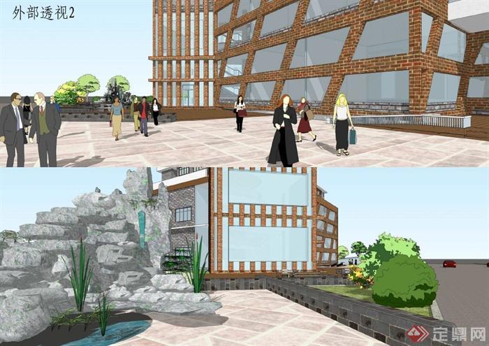 国购集团商业综合体建筑设计方案文本(毕业设计)