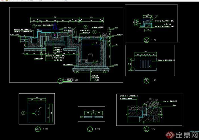 水池水景设计CAD施工图