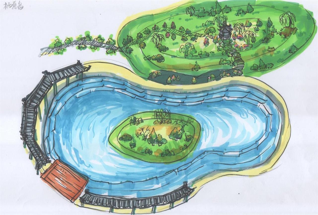 古典园林部分手绘图