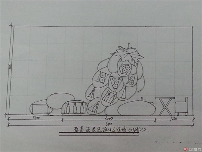 欧式雕塑手绘线稿