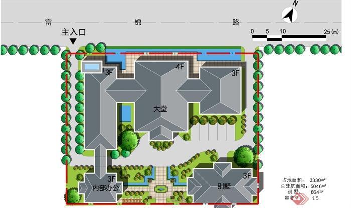 某多层欧式坡屋顶会所建筑设计ppt方案[原创]