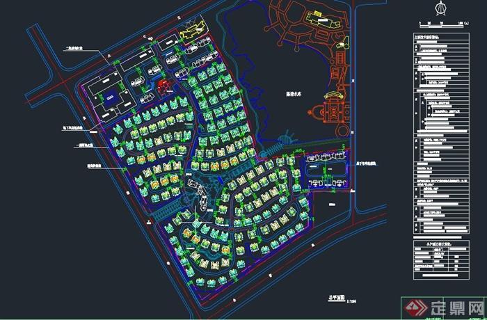 某欧式三层坡屋顶别墅建筑设计cad图jpg方案图[原创]