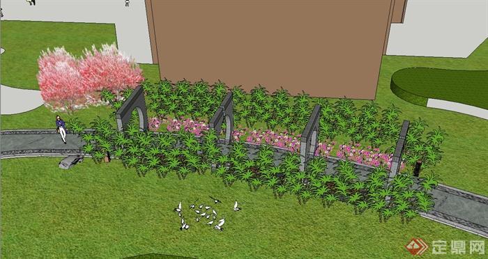 某住宅小区道路景观规划设计su模型