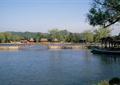 河流景觀,拱橋,汀步,水景,船