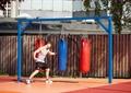 沙袋,拳击沙袋,游乐设施,围栏