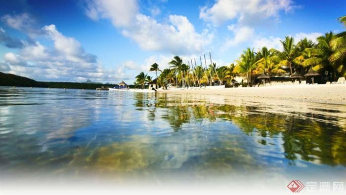 东南亚海景度假酒店景观-滨水景观海景-设计师图库
