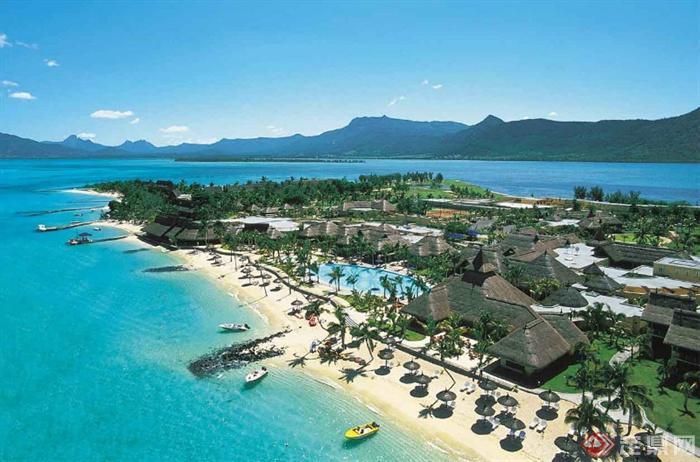 滨水景观,海景,度假区,度假酒店