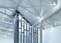 展示柜,装饰柱,天花吊顶,吊灯,隔断墙,博物馆