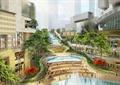 商業街,步行街,臺階,景觀水池,商業環境