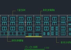 四层框架结构图书馆毕业设计(含计算书施组施工进度计划建筑图结构图)
