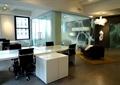 办公桌,办公桌椅,磨砂玻璃,吊灯,沙发,地毯
