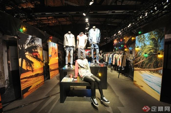 展示台,模特,服装店,专卖店