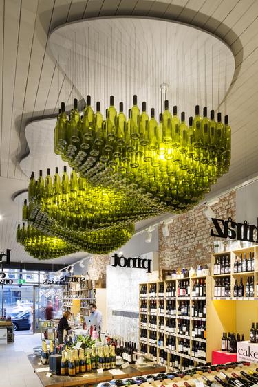 酒瓶吊灯,酒柜,酒,天花吊顶,酒吧