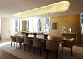餐桌椅,花瓶插花,天花吊顶,水晶吊灯,地面铺装,家具店