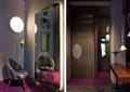 沙发,镜子,柜子,吊灯,地面?#22871;?隔断墙,服装店