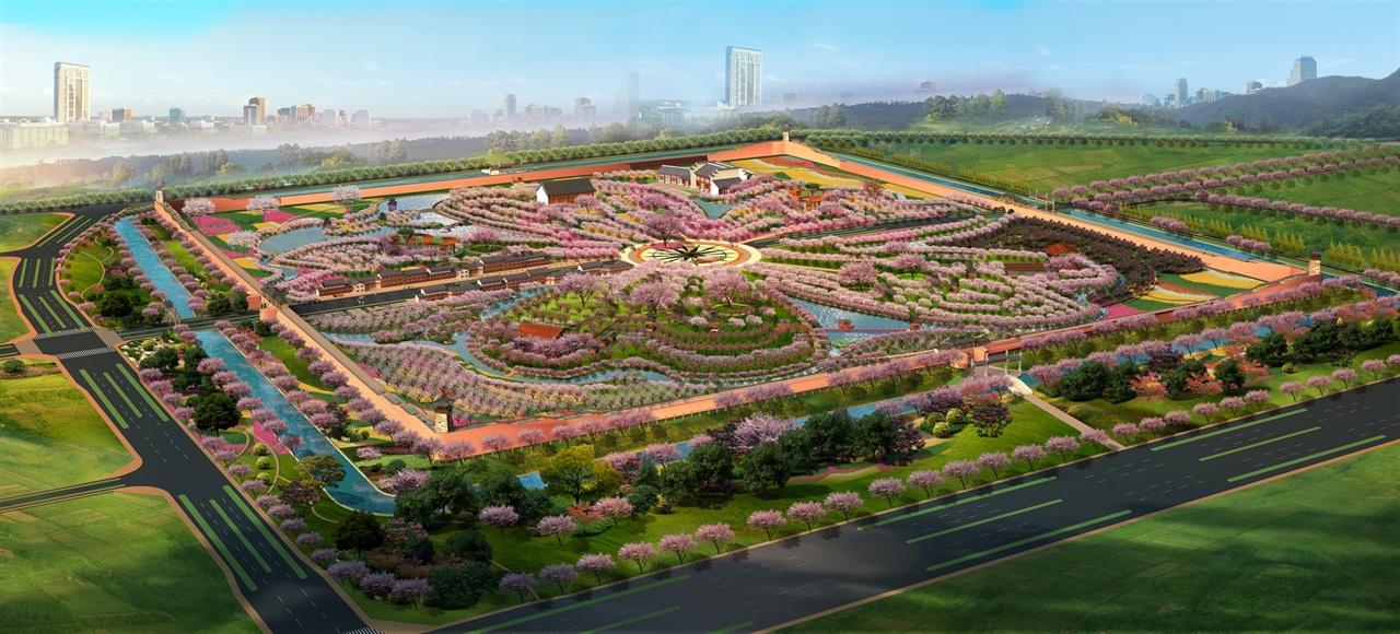 樱花景观手绘平面图