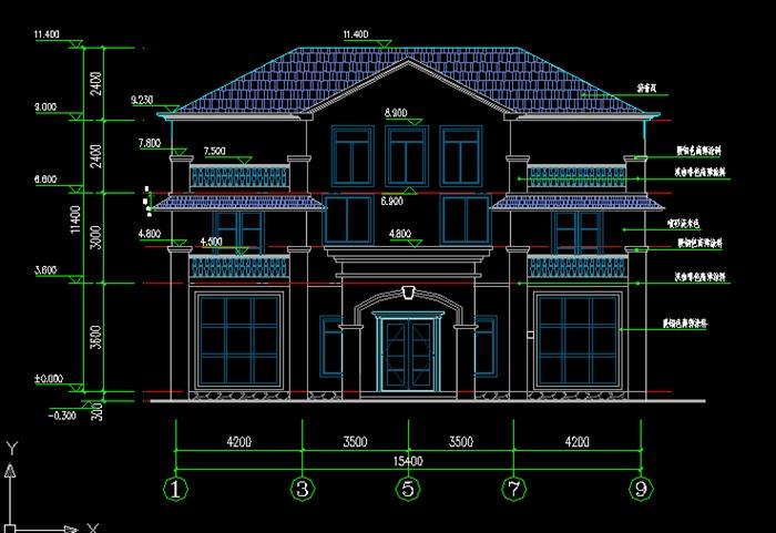 现代三层小别墅建筑施工图 含SU模型图片