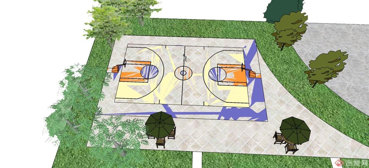 中华公园篮球场1