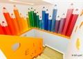 楼梯,彩绘墙,彩绘铅笔