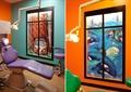 彩绘墙,彩绘窗,牙椅